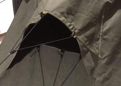 Ilmanvaihtoaukon suunnittelu oli yksi haastavimmista kohdista teltan suunnittelussa.