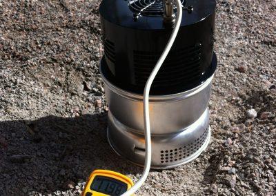 Trangia-versioon laitettiin puhallin, jotteivät TEGit ylikuumene. Ongelmaksi osoittautui liian kuuma ilma, jota ei saatu viilennettyä riittävästi puhaltimella.