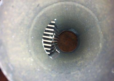 Lyhyelle piippugeneraattorille tehtiin lämmityssiili putken sisään